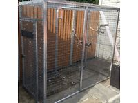 Metal Aluminium Bird Aviary / Cage with Swing Feeders WITH Roof Sheets