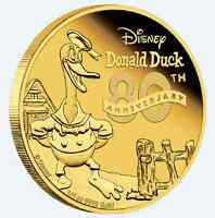 80th Anniversary of Donald Duck 1/4 oz Gold Coin