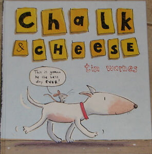 Chalk & Cheese Cartoon Large Hard Cover Book London Ontario image 1