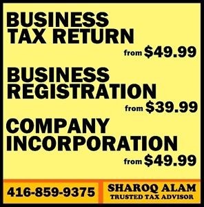 BUSINESS & CORPORATION TAX RETURNS: $49.99