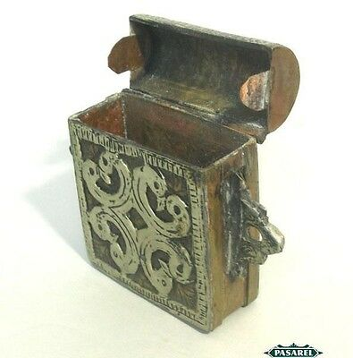 Unique Silver & Brass Amulet / Prayer Book Case Morocco / Tunisia Ca 1880