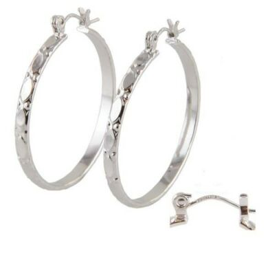 .925 Sterling Silver Hoop Earrings, Genuine Beaucraft on Rummage