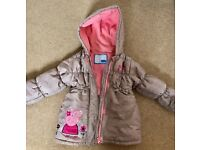 Girls Coat age 3/4 peppa pig