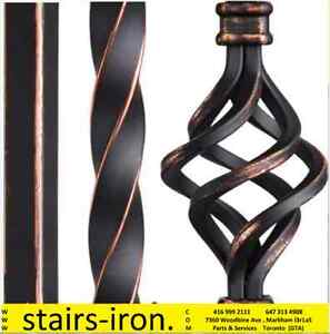 STAIRS Railings Antique Copper Balusters Parts. Service & Design