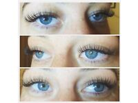 Individual eyelash extensions 1:1 Classic or Russian Volume 2D to 7D