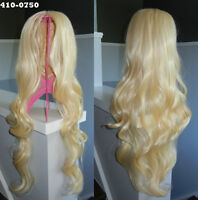BRAND NEW: 75cm Long Blonde Parted Cosplay Wig (410-0750)