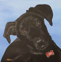 * Custom One-Of-A-Kind Painting of your Beloved Pet! *