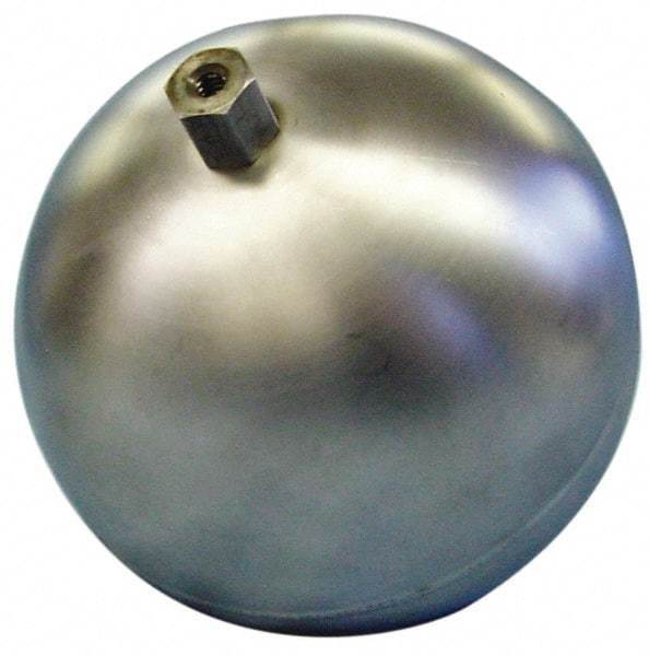 """Made in USA 7"""" Diam, Spherical, Hex Spud Connection, Metal Float 1/2"""" Straigh..."""