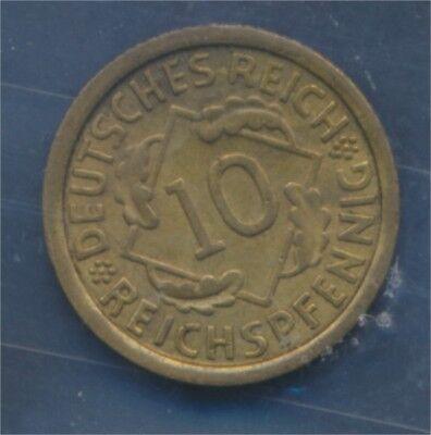 Deutsches Reich Jägernr: 317 1929 F vorzüglich 1929 10 Reichspfennig (7879592