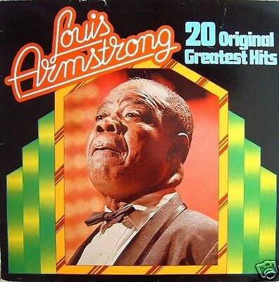 Louis Armstrong - 20 Original Greatest Hits Italy 1980 LP Vinyl