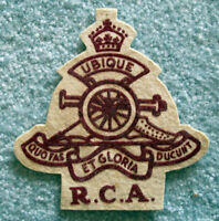 Royal Canadian Artillery Jacket Patch with King's Crown