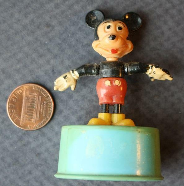 1960s Kohner Toys Walt Disney Mickey Mouse character 3-D Push-up puppet toy!