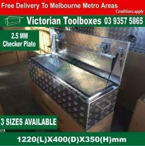 1220*400*350mm Heavy duty Aluminium Toolbox Top Open door 2 lock