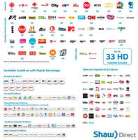 Shaw TV PLAN / Rogers Unlimited Internet Also Available