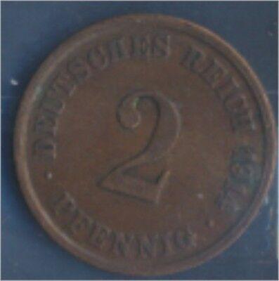 Deutsches Reich Jägernr: 11 1914 J sehr schön Bronze 1914 2 Pfennig (7848975