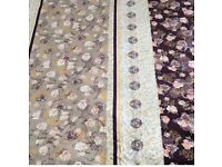 KING SIZE BLANKET BED THROW BROWN FLOWERS very soft and warm