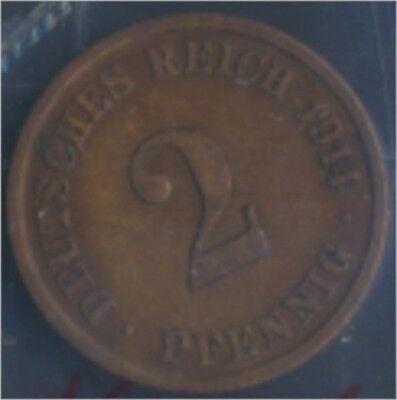 Deutsches Reich Jägernr: 11 1914 J sehr schön Bronze 1914 2 Pfennig (7848974
