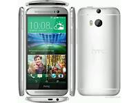 HTC One m8 silver 16 gb unlocked