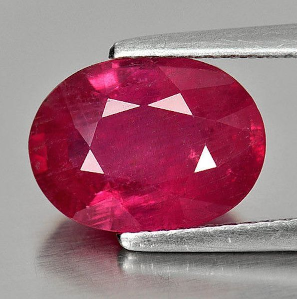 Genuine Natural Ruby AA Oval Faceted Loose Gemstones (4x3mm - 6x4mm)
