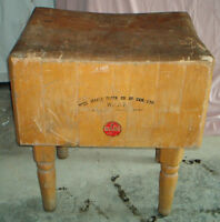 Vintage WOOD - BUTCHER BLOCK from 1900s General Store - Antique