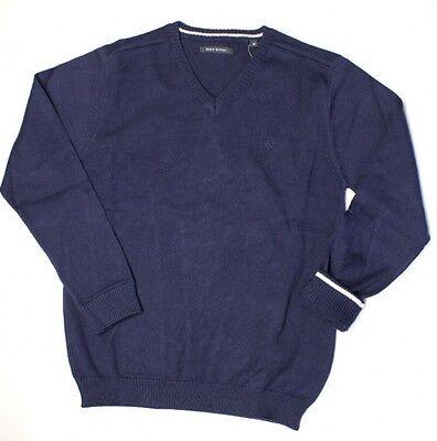 V-ausschnitt Jungen Pullover (MARC O´ POLO 1544807 JUNGEN STRICK PULLOVER PULLI V-AUSSCHNITT 3980 MARINE)