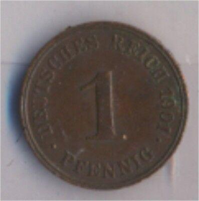 Deutsches Reich Jägernr: 10 1901 J sehr schön Bronze 1901 1 Pfennig  (9157776