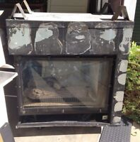 3sided gas fireplace