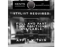 Experienced Barbers Required, Full And Part Time Positions Available