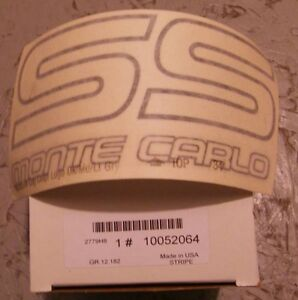 1987 Monte Carlo SS Original GM Stickers and Emblems Stripes Kitchener / Waterloo Kitchener Area image 2