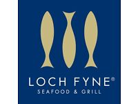 Loch Fyne Farnham are looking for a Commi Chef