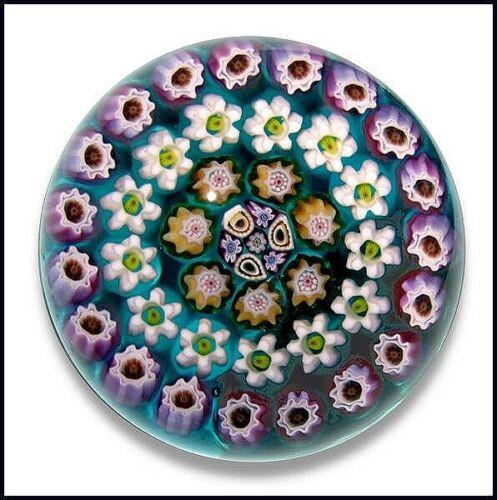Julie Scrutton Lewis millefiori artglass paperweight Limited Edition (On Sale)