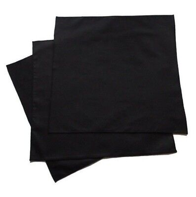 100% Organic Cotton Large Black Men's Handkerchiefs - Set of 3, USA made