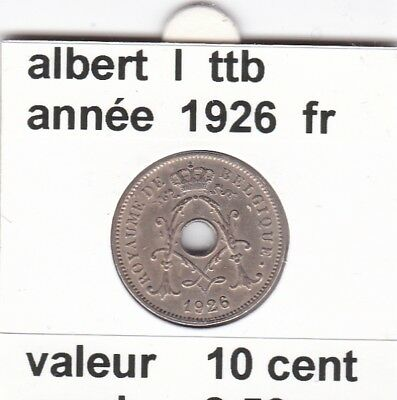 FB 2 )pieces de albert I 10 cent  1926  belgique