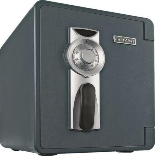 First Alert 0.9 Cu. Ft. Fire- and Water-Resistant Anti-Theft Safe Gray/Silver/Black 2087F