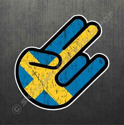 Shocker Swedish Flag Sticker Vinyl Decal Sweden Car Sticker Fits Volvo & Saab  for sale  Canada