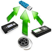 Convert/transfer VHS, VHS-C, SVHS-C, mini DV, 8mm to digital