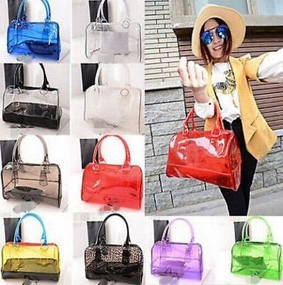 Beach Cute Woman Girl Clear Transparent Bucket Shoulder Bag PVC 2in 1 - Clear Bucket