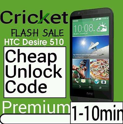 Unlock Code CRICKET HTC Desire 626 625 555 550 Desire 510 520 512 PREMIUM