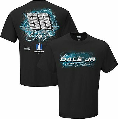 Dale Earnhardt Jr  88 Nationwide Gear Up Black Short Sleeve Nascar Tee Shirt