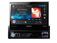 Pioneer AVH-X7500BT Flip Out Screen, USB, Sat Nav, Aux, DVD