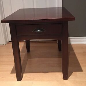 Custom made Solid cherry end table with drawer