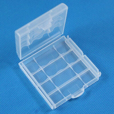 1p Hard Plastic Box Holder Storage Case Cover Recharge AA AAA Battery Trims