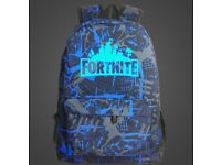 Back to school kid's Fortnite battle Royale school bag, available in multiple colours/patterns