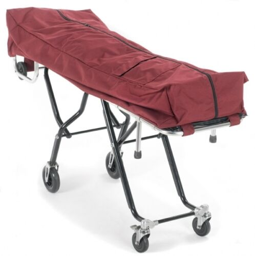 BURGUNDY-COT POUCH-MORTUARY STRETCHER POUCH-FUNERAL STRETCHER-COT COVER