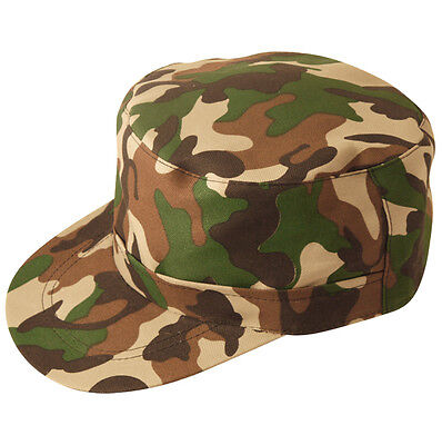ARMY CAMOUFLAGE  CAP UNISEX ADULT SIZE FOR ARMY THEME FANCY - Army Costumes For Adults