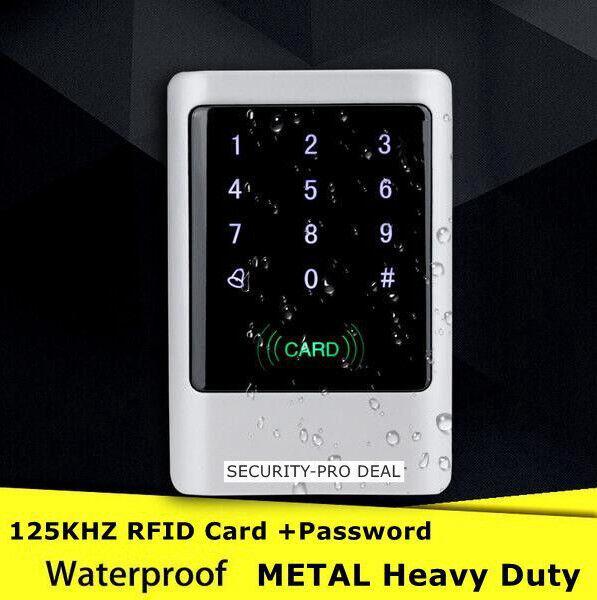 IP66 Full Waterproof Metal 125KHZ RFID Card+Password Door Access Control Keypad
