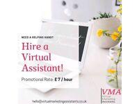 Virtual Assistants (£7/hour)