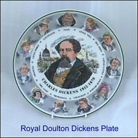 """Vintage Royal Doulton  Charles Dickens 10-1/2""""   Plate T.C. 1042"""