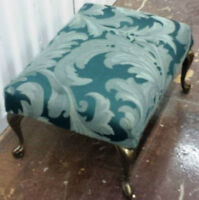 ** Quality Upholstered Foot Stool **