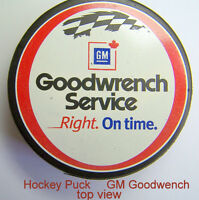 GM Gooodwrench promotion hockey puck, official league size